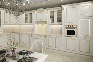 Кухня Аврора белая - Мебельная фабрика «Гретта-кухни», г. Ульяновск