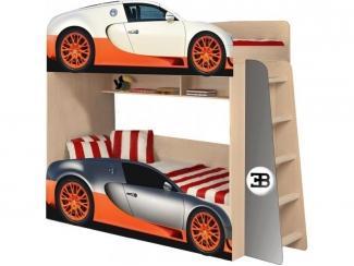Двухъярусная детская кровать  Бугатти модель 4 - Мебельная фабрика «ПМК ВиП»