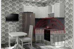 Маленькая угловая кухня Сампи-Кембридж - Мебельная фабрика «ВМК-Шале»
