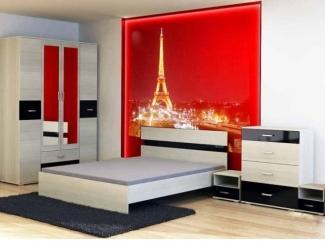 Светлый спальный гарнитур Сити - Мебельная фабрика «Комодофф»