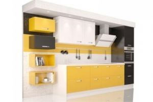Кухонный гарнитур прямой Мартэ - Мебельная фабрика «Cucina»