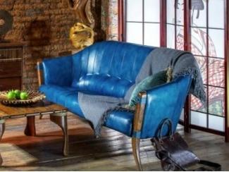 Диван и кресло Lima  в ярко голубой коже - Импортёр мебели «Arredo Carisma (Австралия)»