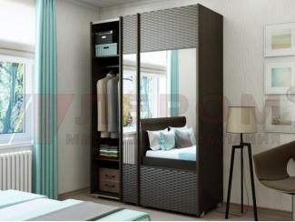 Темный шкаф-купе с зеркалами - Мебельная фабрика «Лером»