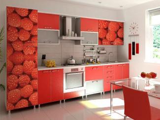 Кухонный гарнитур прямой 7 фотопечать