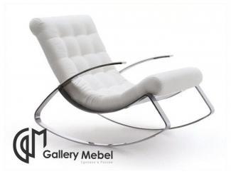 Белое кресло-качалка  - Мебельная фабрика «Галерея Мебели GM»