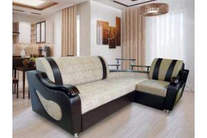 Диван Виктория с баром евроугол  - Мебельная фабрика «Викс»