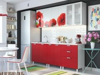 Кухня с фотопечатью Маки