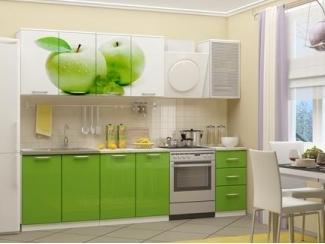 Кухня ЛДСП с фотопечатью Яблоко