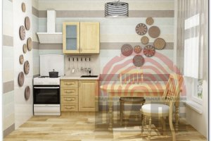 Кухня прямая Гамма-Оксфорд - Мебельная фабрика «ВМК-Шале»