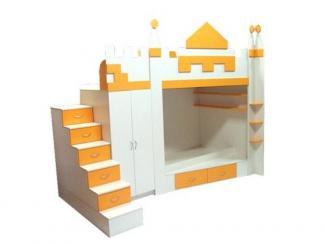 Детская двухъярусная кровать  Замок - Мебельная фабрика «Мебель от БарСА»