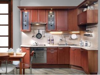Угловая кухня Анастасия в коричневом цвете  - Мебельная фабрика «ВиАл»