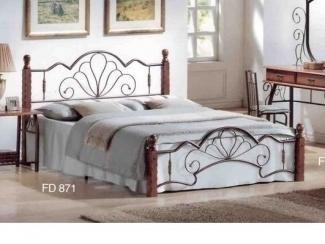 Кровать с кованными элементами MK-1912-RO - Импортёр мебели «M&K Furniture»
