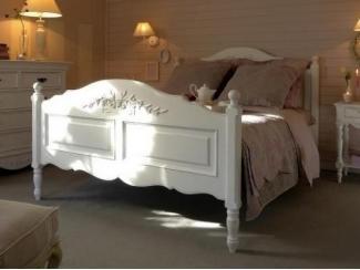 Белая кровать из массива Аделина - Мебельная фабрика «Домашняя мебель»