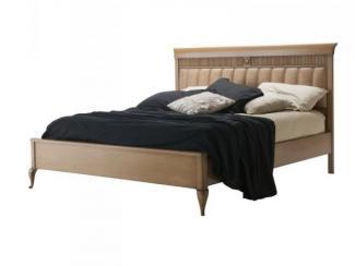 Кровать с обитым изголовьем