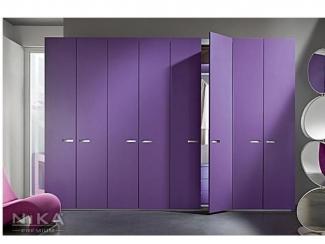 Распашной Сиреневый шкаф - Мебельная фабрика «NIKA premium»