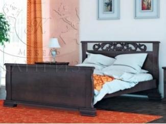 Кровать Версаль с резьбой - Мебельная фабрика «Каприз»