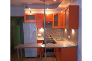 Угловая оранжевая кухня - Мебельная фабрика «Барокко Плюс»