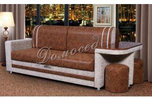 Диван со столиком и пуфами Лидер 18 - Мебельная фабрика «Домосед»