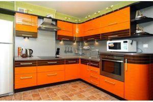 Угловая оранжевая кухня  Бостон - Мебельная фабрика «Мебель.Ру»