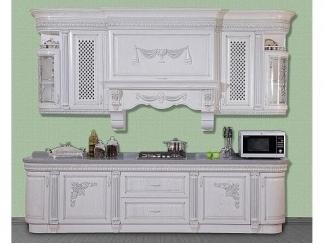Белая кухня из массива ясеня Валенсия