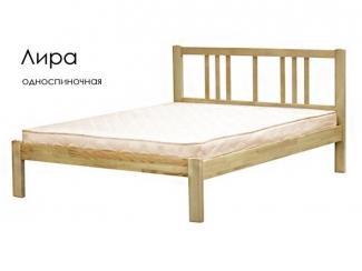 Кровать Лира из массива сосны - Мебельная фабрика «Массив»