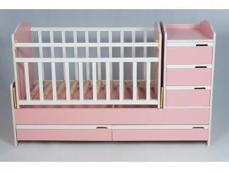 Детская кроватка КТМ PINK - Мебельная фабрика «Папа Карло»
