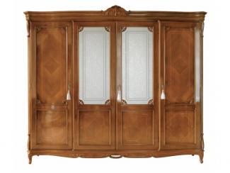 Шкаф распашной стеклянные вставки - Импортёр мебели «Spazio Casa»