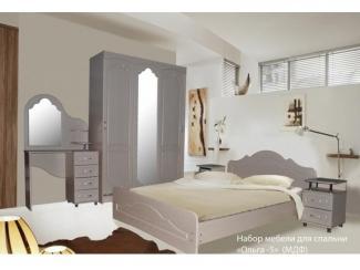 Набор мебели для спальни Ольга 5 МДФ - Мебельная фабрика «МВМ», г. Волжск