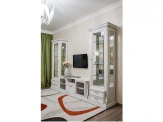 Гостиная Верона белая с серебром - Мебельная фабрика «Ульяновскмебель (Эвита)»