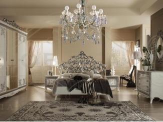 Спальный гарнитур Стефани серебро