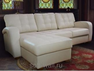 Белый угловой диван Кожзам Мария - Мебельная фабрика «SoftWall», г. Омск