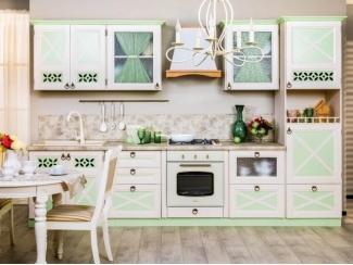 Кухня Амели 2 Дуб Прованс зеленый  - Мебельная фабрика «Любимый дом (Алмаз)»