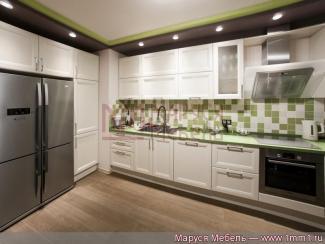 Кухня прямая Белая эмаль - Мебельная фабрика «Маруся мебель»