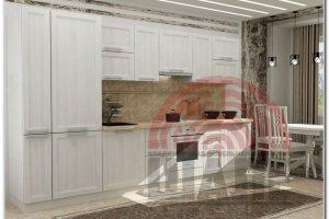Прямая белая кухня Вита-Кембридж - Мебельная фабрика «ВМК-Шале»