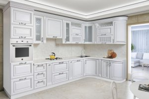 Кухня массив берёзы Афина - Мебельная фабрика «Корфил»