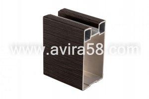 Алюминиевый профиль Феррара темная крупная - Оптовый поставщик комплектующих «Авира»