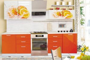 Кухня глянец Апельсин - Мебельная фабрика «Мебель Поволжья»