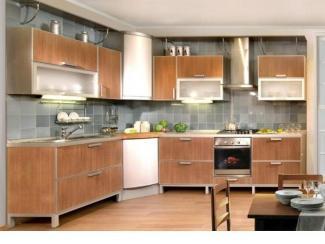 Кухня беж прямая - Мебельная фабрика «Династия»