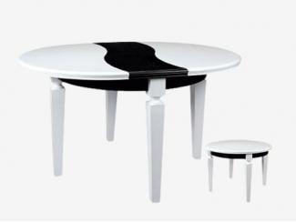 Черно-белый стол Престиж 4 - Мебельная фабрика «Кухни Медынь»