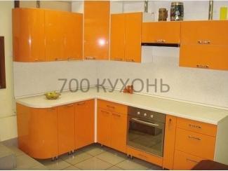 Оранжевая угловая кухня  - Мебельная фабрика «700 Кухонь»