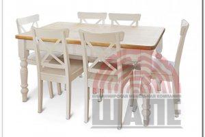 Обеденная группа стол и стул МЭЙСОН - Мебельная фабрика «ВМК-Шале»