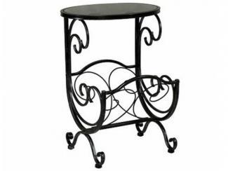 Стол журнальный металлический с коваными элементами-1681К - Импортёр мебели «МебельТорг»