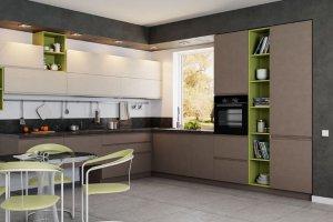 Угловая современная кухня - Мебельная фабрика «Командор»