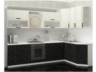 Кухонный гарнитур Черно-белые цветы