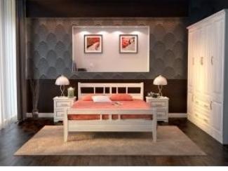 Кровать Парма из массива бука - Мебельная фабрика «Дримлайн»