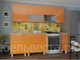 Кухонный гарнитур Светлана Оранжевый металлик