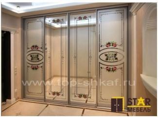 Красивый шкаф-купе с декором - Мебельная фабрика «STAR мебель»