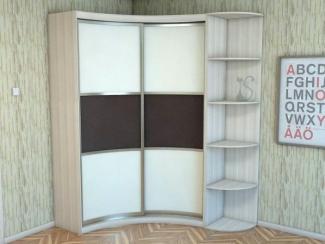 Шкаф - купе радиусный светлый - Изготовление мебели на заказ «Мега», г. Челябинск