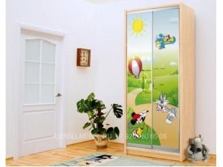 Детский шкаф-купе из ДСП 1460 - Мебельная фабрика «Тамерлан-Стиль (ЛюксБелМебель)»