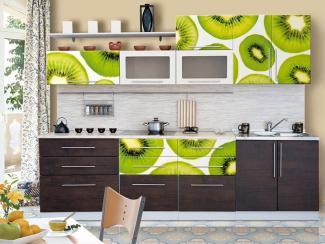 Кухонный гарнитур прямой 11 фотопечать - Мебельная фабрика «Виктория»